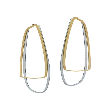 EARRING -X2-LGE STUD GOLD RAW