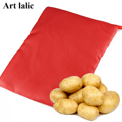 1PC NEW RED MICROWAVE POTATO COOKER BAG
