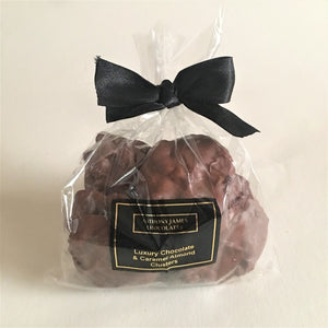 Luxury Chocolate & Caramel Almond Clusters 250g