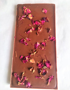 Saffron & Rose Single Origin Milk Chocolate 100g Ghana 40%