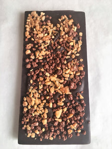 Organic Single Origin Caramel Crunch Dark Chocolate 100g     Madagascar 100%