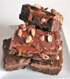 Luxury Salted Peanut Butter Caramel Brownies (Large Box of 6)