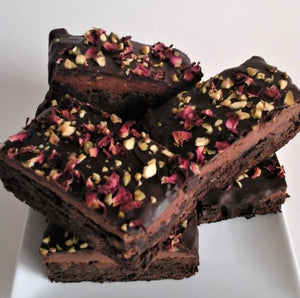 Luxury Pistachio Rose Brownies (Large Box of 6)
