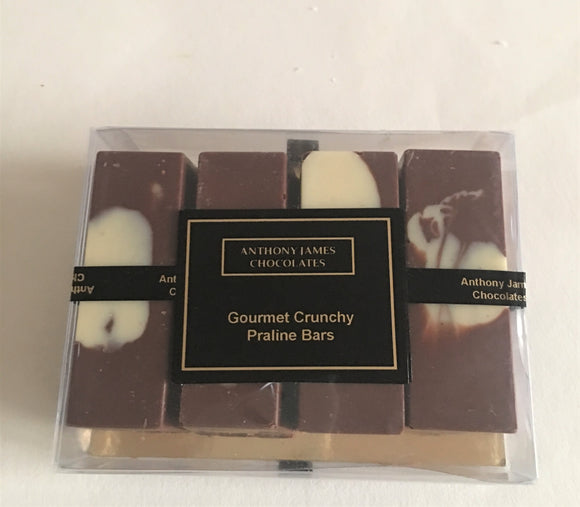 Gourmet Crunchy Praline Bars Pack of 4