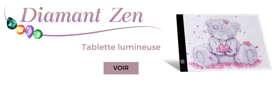 tablette lumineuse broderie diamant