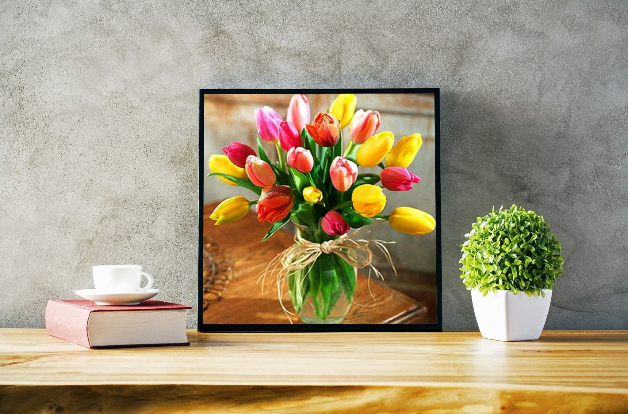 Broderie diamant <br /> Bouquet de tulipes - Diamant Zen