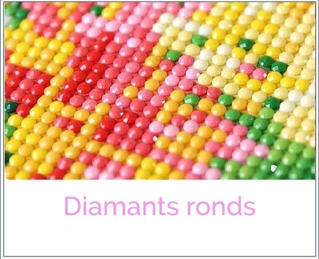 Broderie diamant <br /> Chat multicolore - Diamant Zen