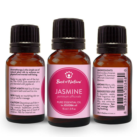 Jasmine Absolute Essential Oil Blended with Jojoba Oil