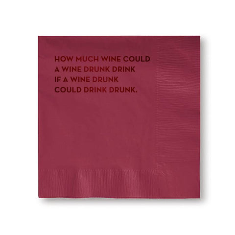 Wine Drunk Napkins (Burgundy With Burgundy Foil)