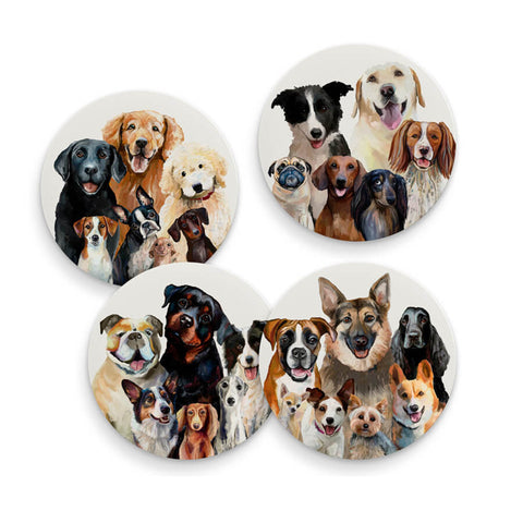 Best Friend Dog Bunch Coasters