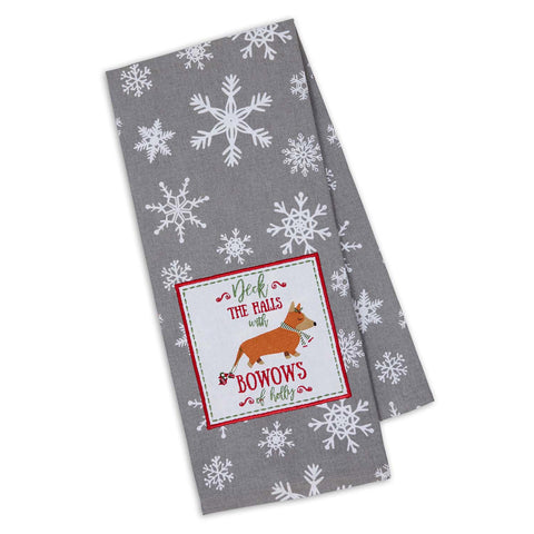 Bow-wows of Holly Kitchen Towel