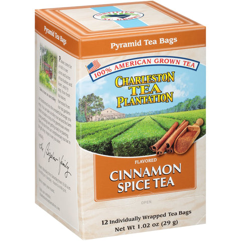 Charleston Tea Cinnamon Spice - pyramid bags