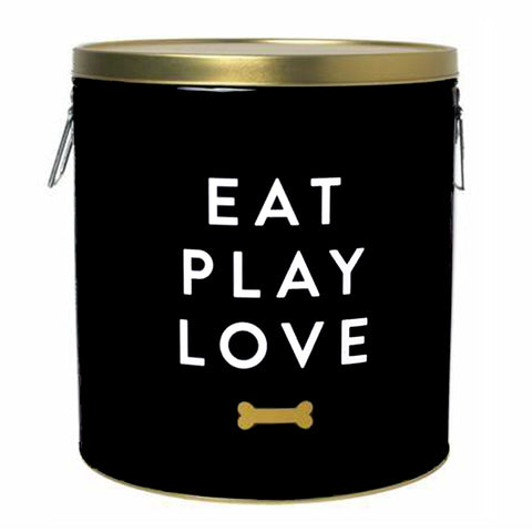 Eat Play Love Pet Treat Canister