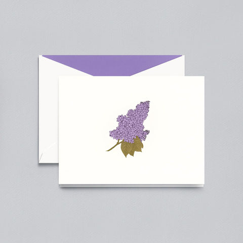Engraved Lilac Folded Note by Crane