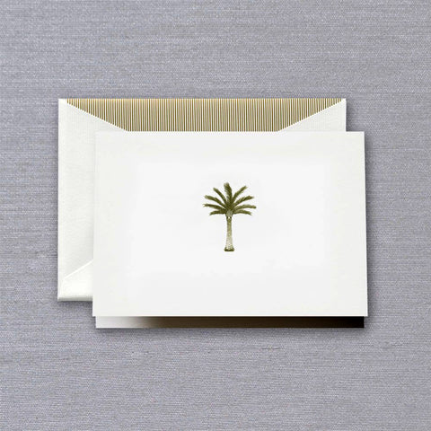 Engraved Palm Tree Folded Note by Crane