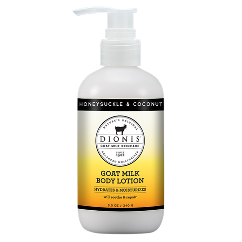Dionis Goat Milk Body Lotion - Honeysuckle and Coconut