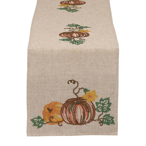 Pumpkins Embroidered Table Runner
