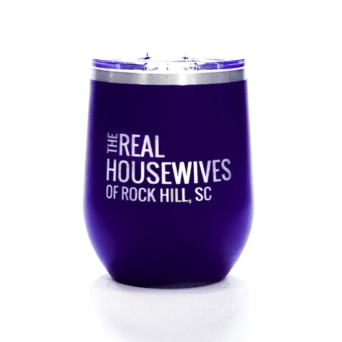 12 Oz Real Housewives Wine Tumbler - Purple