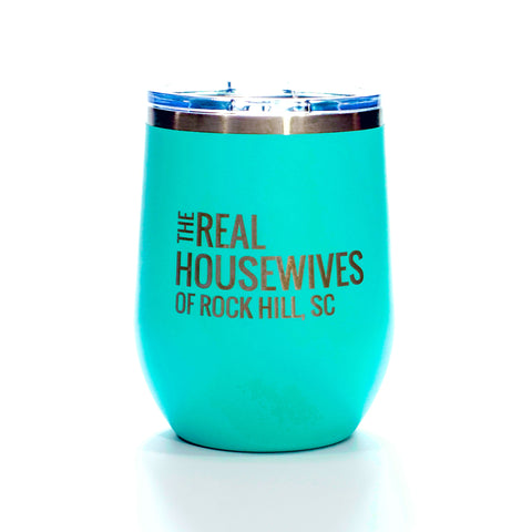 12 Oz Real Housewives Wine Tumbler - Teal