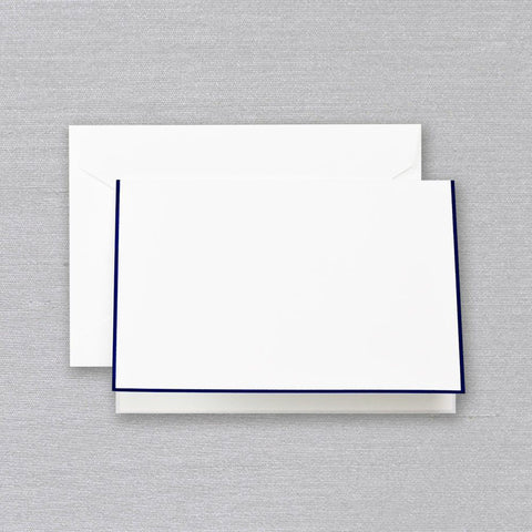 Regent Blue Folded Note on White by Crane