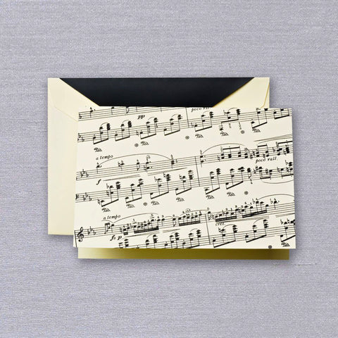 Sheet Music Folded Note by Crane