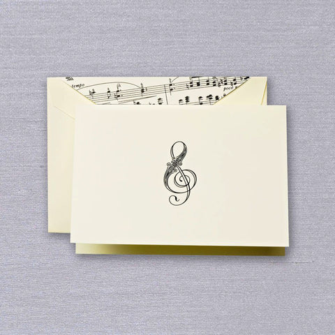 Treble Clef Folded Note by Crane