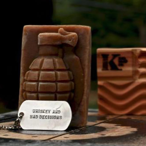 Grenade Soap by K Bar - Whiskey and Bad Decisions