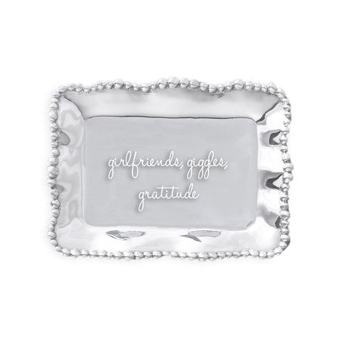 Girlfriends, Giggles, Gratitude Tray by Beatriz Ball