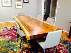 Suar Wood Rectangle Live Edge Table