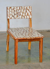 Standard Chair W/ White Carving