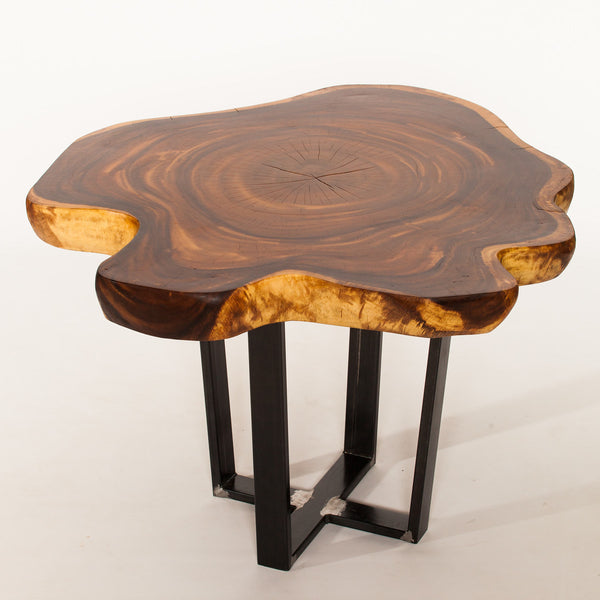 Suar Wood Live Edge Round Table - #99M