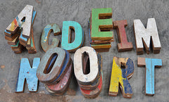 Reclaimed Wood Letters and Numbers