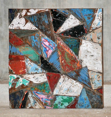 PATCHWORK TRIANGLE PANEL 24x24 - #102