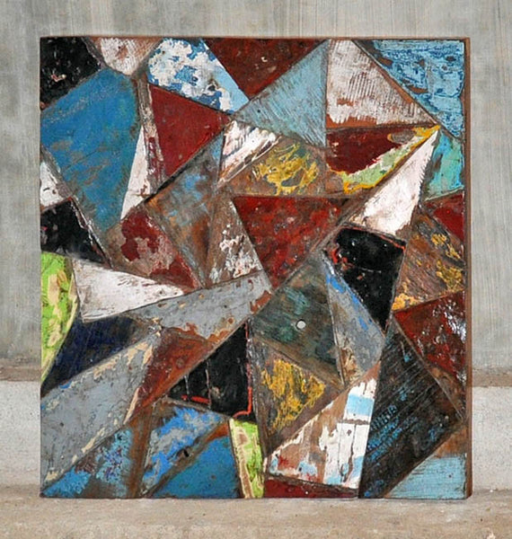 PATCHWORK TRIANGLE PANEL 24x24 - #105