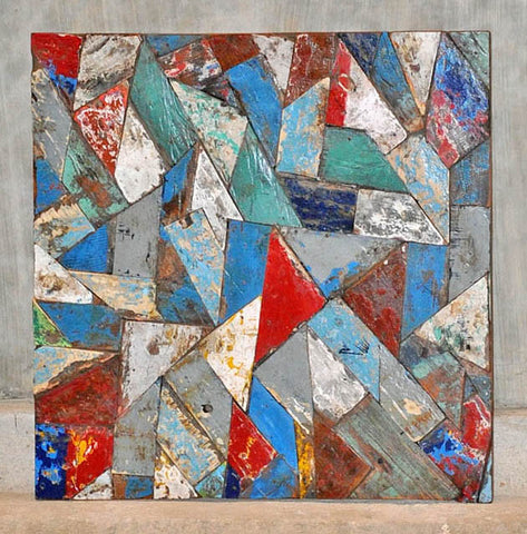 PATCHWORK TRIANGLE PANEL 32x32 - #106