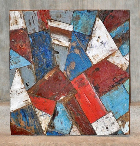 PATCHWORK TRIANGLE PANEL 24x24 - #106