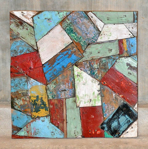 PATCHWORK TRIANGLE PANEL 24x24 - #107