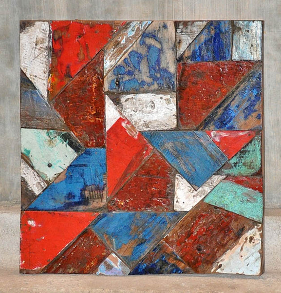 PATCHWORK TRIANGLE PANEL 24x24 - #110