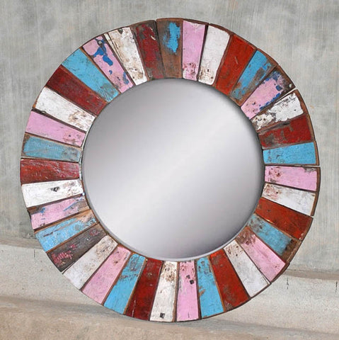 PATCHWORK MIRROR ROUND - #186