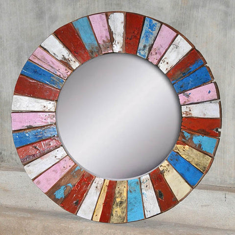 PATCHWORK MIRROR ROUND - #189