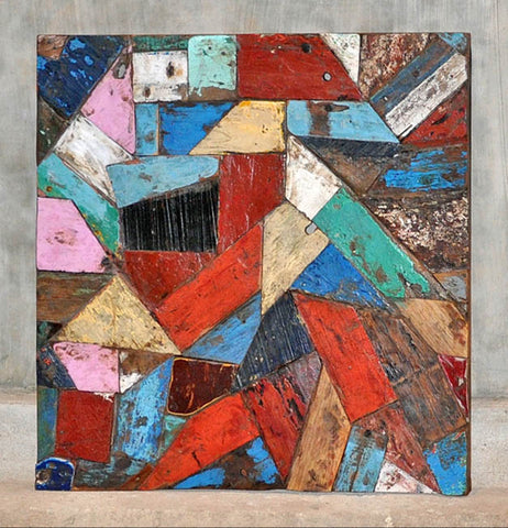 PATCHWORK TRIANGLE PANEL 32x32 - #108