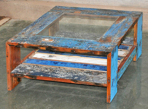 Coffee Table with Glass 32x32 - #123