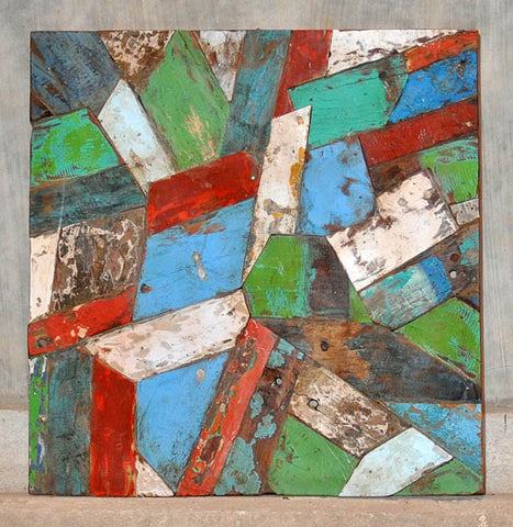 PATCHWORK TRIANGLE PANEL 32x32 - #122