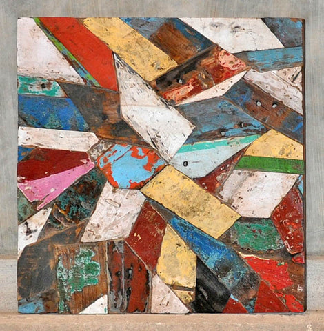 PATCHWORK TRIANGLE PANEL 32x32 - #123