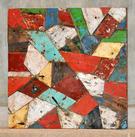 PATCHWORK TRIANGLE PANEL 32x32 - #125