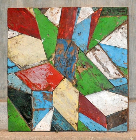 PATCHWORK TRIANGLE PANEL 24x24 - #122