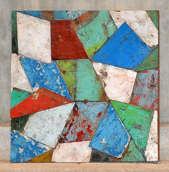 PATCHWORK TRIANGLE PANEL 24x24 - #123