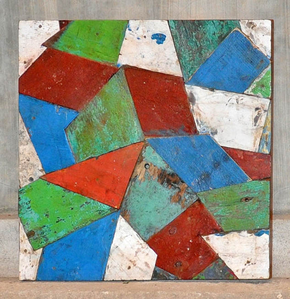 PATCHWORK TRIANGLE PANEL 24x24 - #124