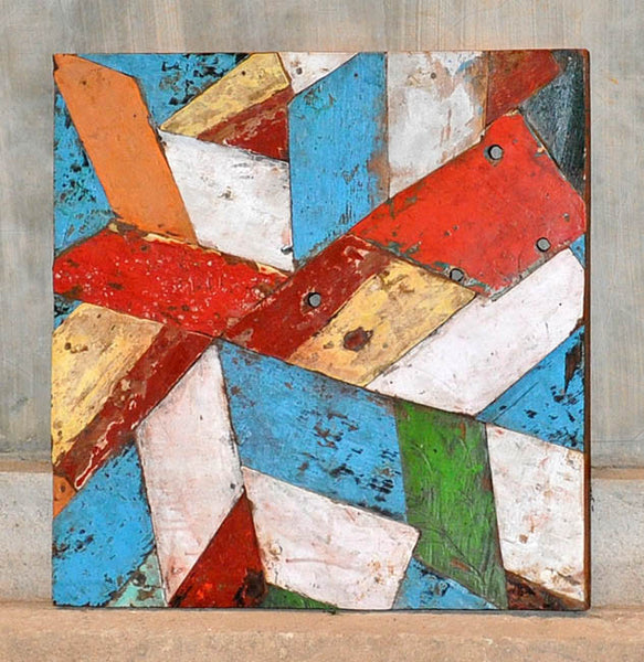 PATCHWORK TRIANGLE PANEL 24x24 - #129