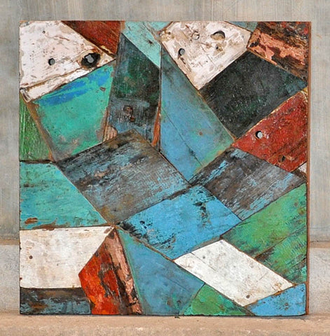 PATCHWORK TRIANGLE PANEL 24x24 - #111